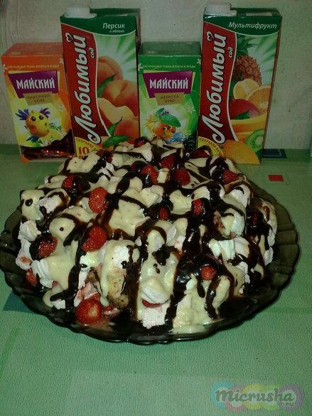 Торт Клубника со сливками