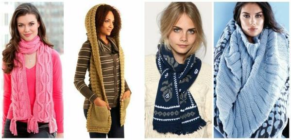 как стильно завязывать шарф