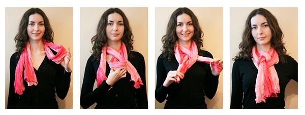 шарфа европейским узлом