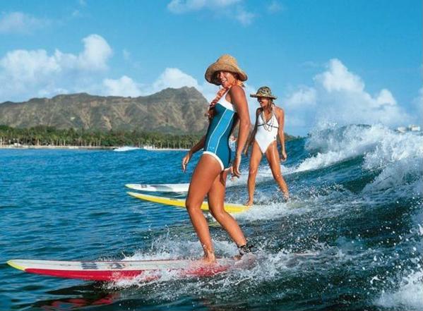 Женская школа серфинга