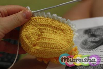 Вязание пинеток крючком для новорожденного