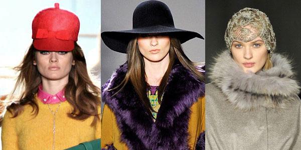 Модные головные уборы 2012-2013