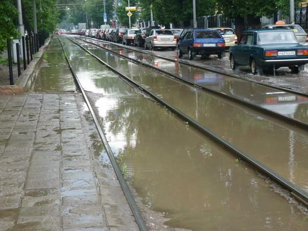 Потоки воды в Саратове
