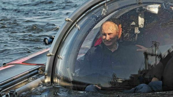 Путин погрузился на дно финского залива