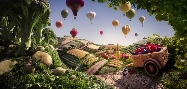 пейзажей из продуктов питания