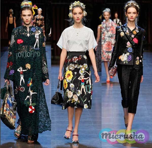 Dolce & Gabbana мода весна - лето 2016