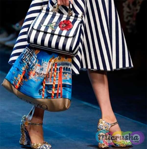 Принты в полоску от Dolce & Gabbana