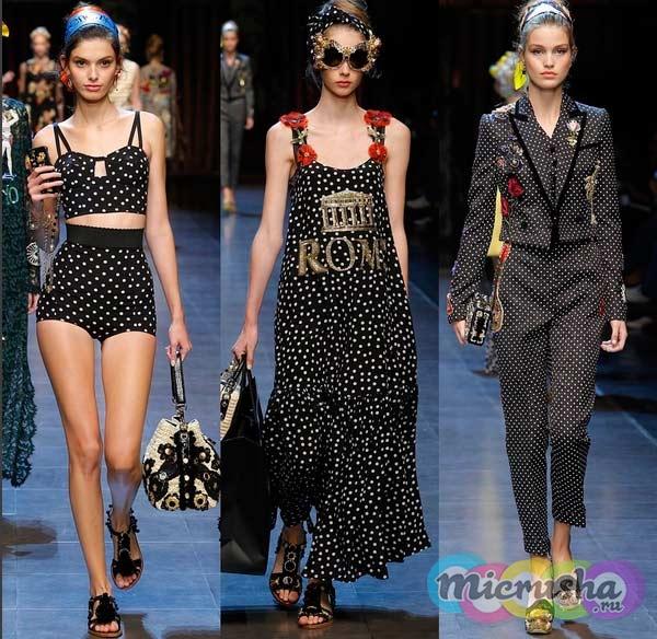 Dolce & Gabbana принты с горохом