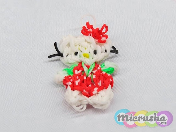 Киска Hello Kitty из резинок