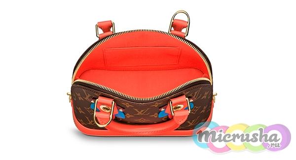 подклад у настоящей сумки Louis Vuitton