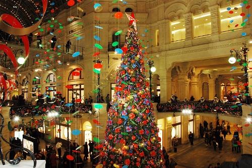 Новогодняя елка в ГУМе
