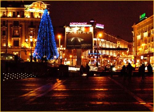 Улицы Новогодней Москвы