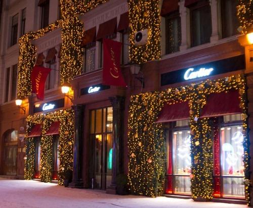 Елки в центре Новогодней Москвы
