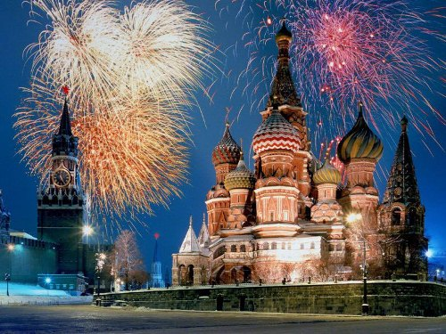 Новогодняя ночь в Москве
