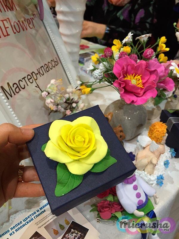 цветок из самозастывающего пластика