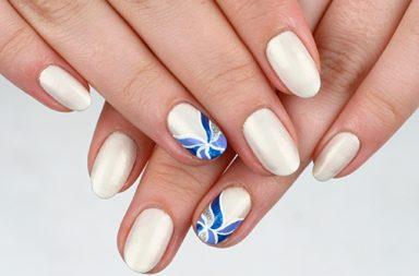 """дизайн ногтей """"Морозные узоры"""" итог"""
