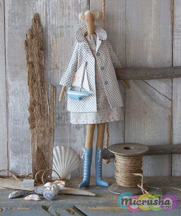 кукла тильда в морском стиле