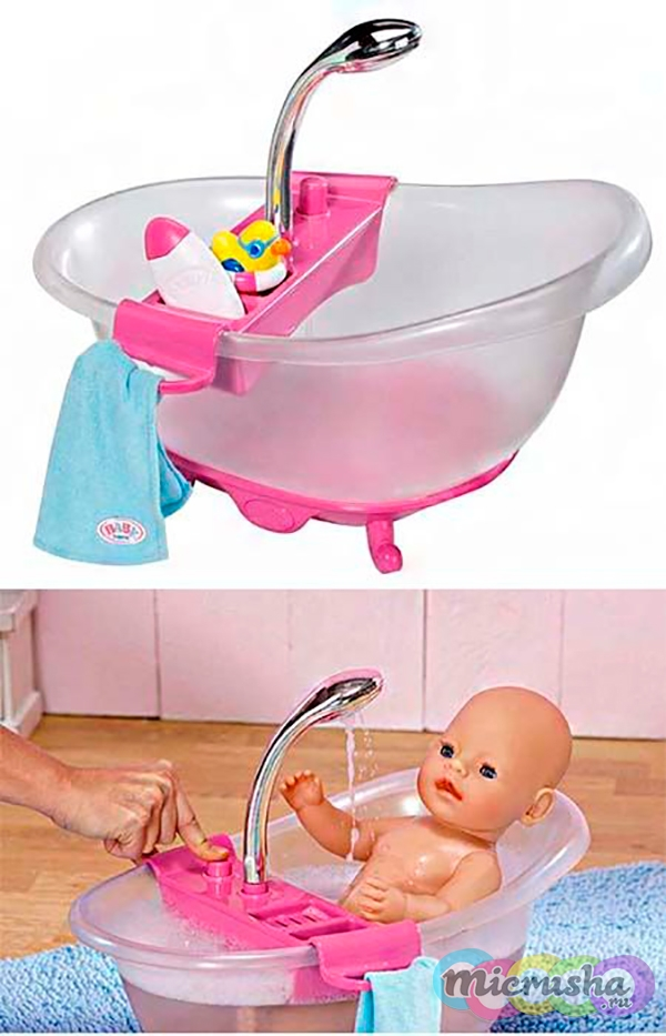 интерактивная ванна для куклы Baby Born