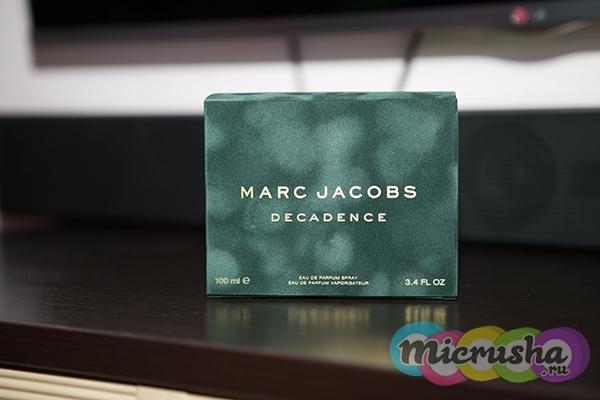 Decadence от Marc Jacobs упаковка