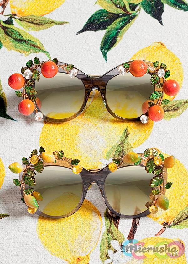 модные очки Dolce&Gabbana с лимонами