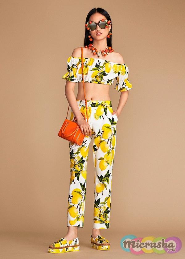Dolce&Gabbana коллекция с лимонами