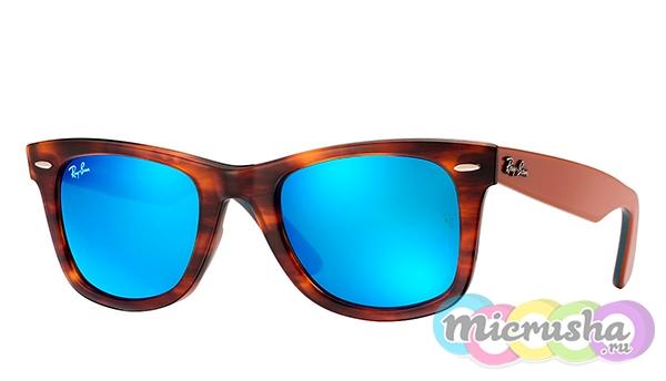 оригинальные очки Ray-Ban с голубыми линзами