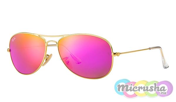 очки Ray-Ban с розовыми линзами