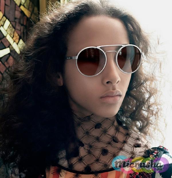 круглые очки от Prada