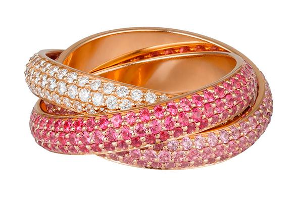 кольцо Trinity Cartier с бриллиантами