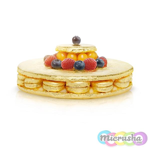 Золотой Торт Макарон