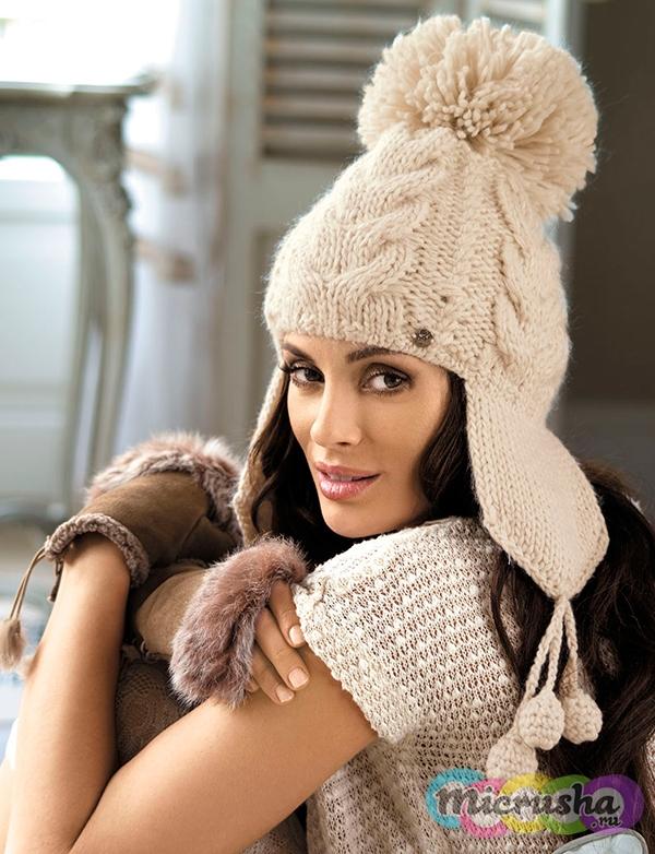 модная шапка с завязками