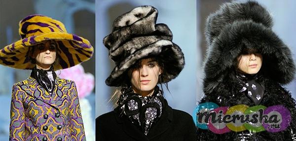 Marc Jacobs меховые шапки