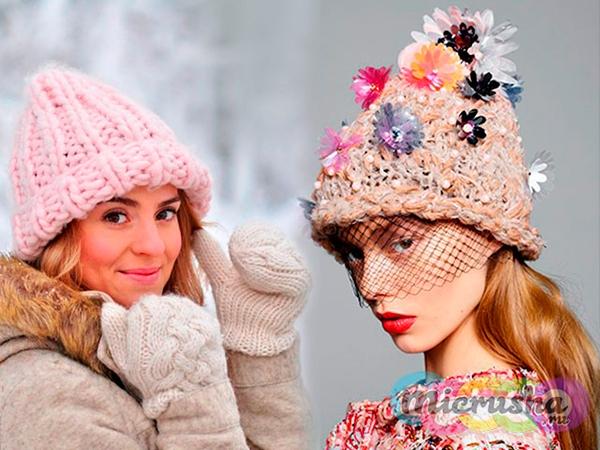 Модные вязаные шапки зима своими руками со схемами фото 716