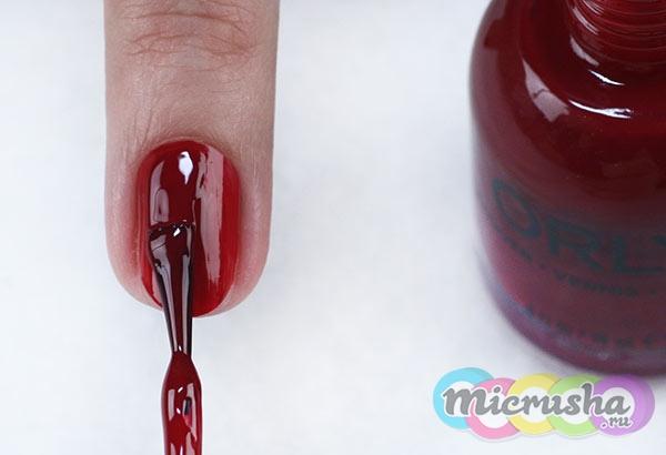 nail-дизайн «Винный-невинный»