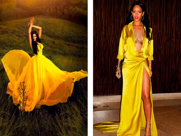 желтое платье на новый год