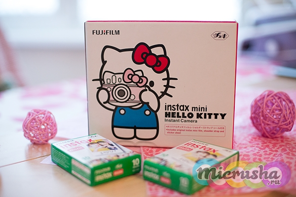 детский фотоаппарат Fujifilm Instax Mini Hello Kitty картриджи