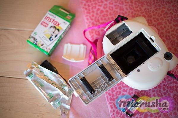 детский фотоаппарат Fujifilm Instax Mini Hello Kitty замена картриджа