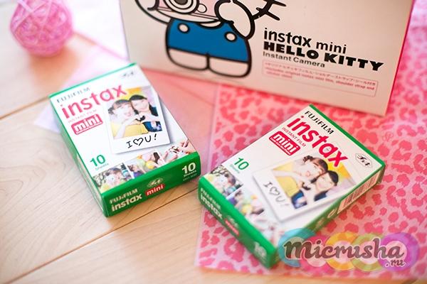 кассеты детский фотоаппарат Fujifilm Instax Mini Hello Kitty