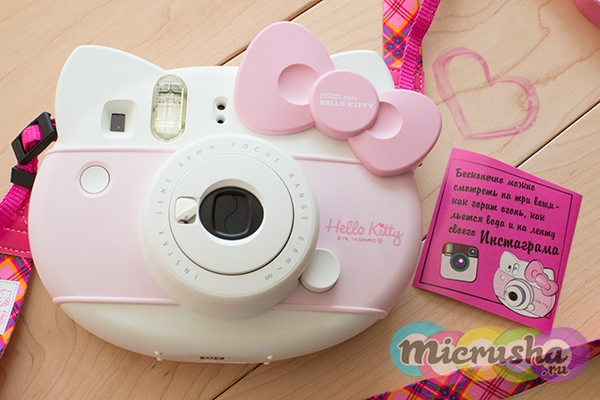 детский фотоаппарат Fujifilm Instax Mini Hello Kitty