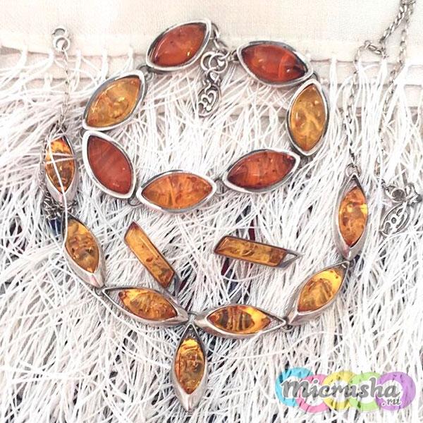 изделия из янтаря: серьги