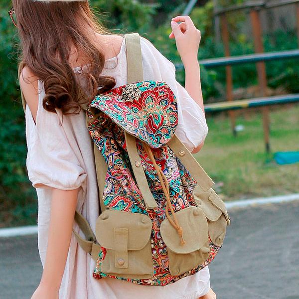 модный рюкзак из ткани
