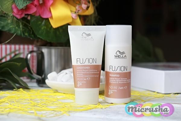 Wella Professionals восстанавливающий шампунь и бальзам Fusion