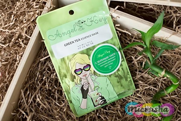 Маска для лица a с зелёным чаем