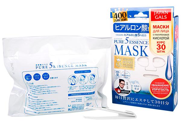 """Japan Gals """"Pure 5 Essence"""" (маска с гиалуроновой кислотой 30 шт)"""