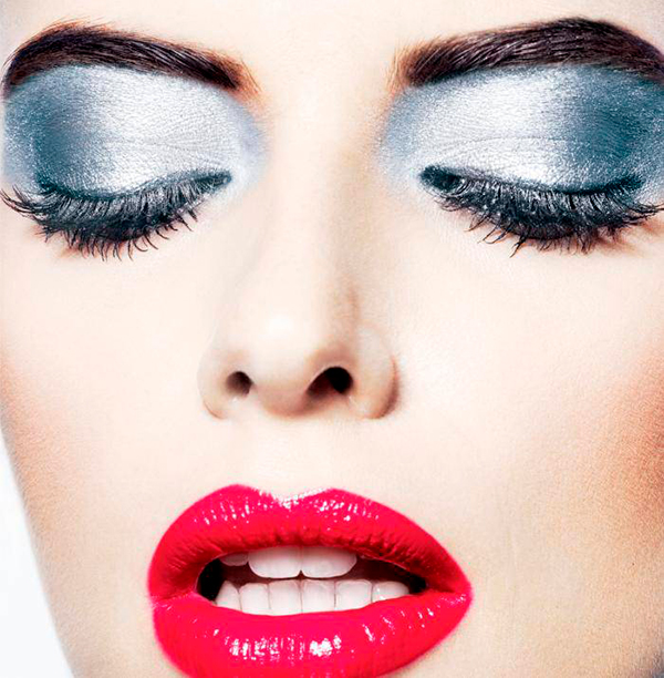 серебристый макияж на новый год