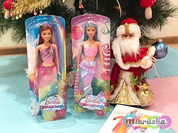 новогодний подарок для девочки Barbie