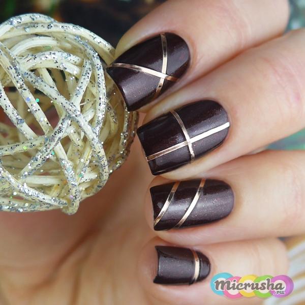 metal stripes nail stickers