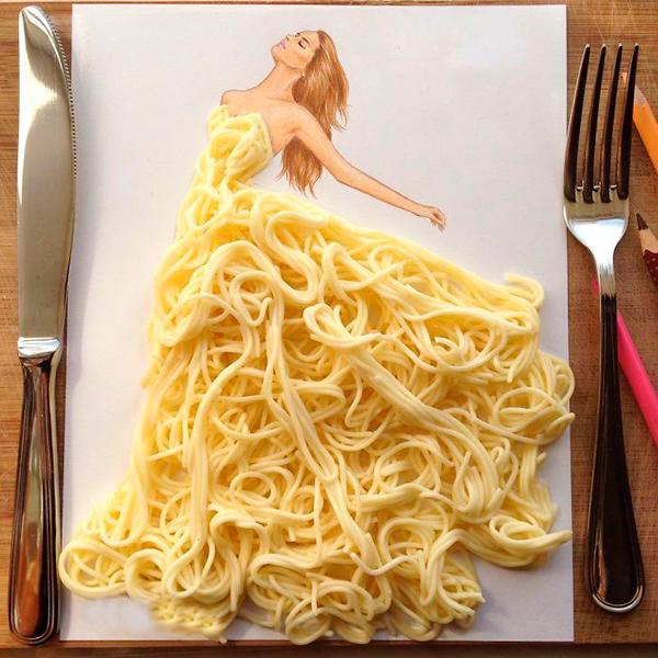 Платье из спагетти