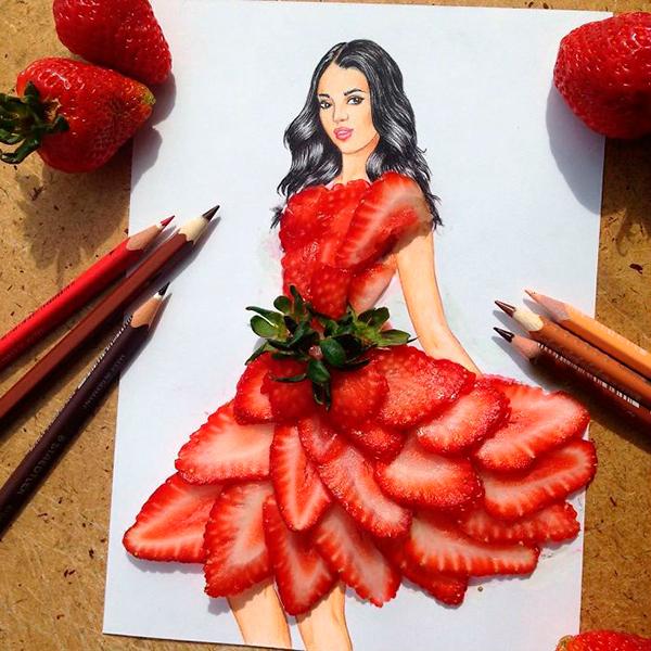 Клубничное платье Эдгар Артис