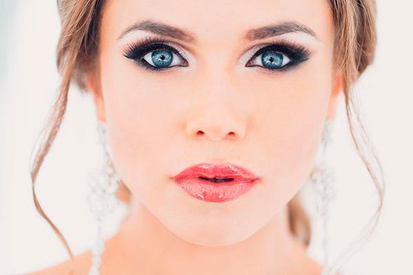 Свадебный макияж с акцентом на глаза